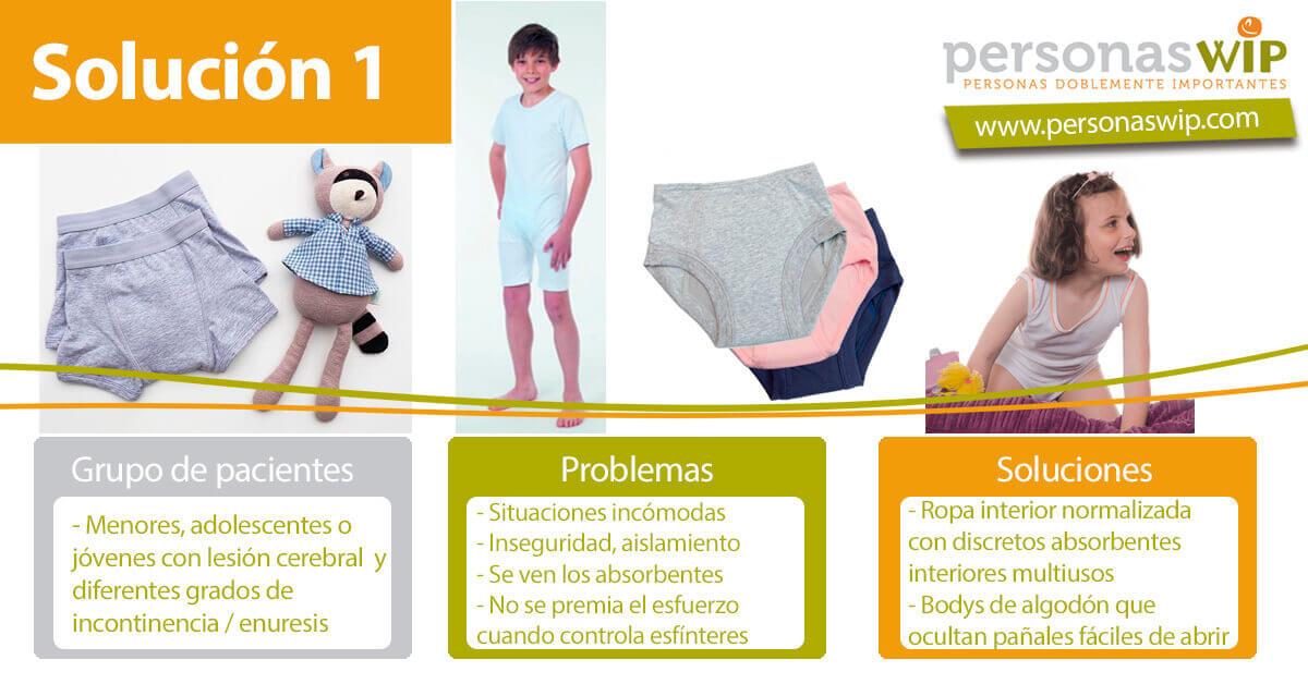 Ropa interior para niños con incontinencia urinaria o enuresis